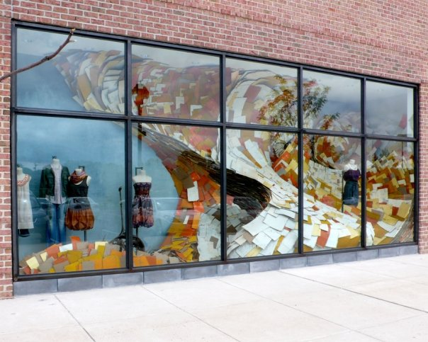 Anthropologie paper wave window display 2009 at the for New anthropologie stores opening 2016