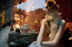 Halloween Tea Party Window Display 2009 at Ralph Lauren Women's Store