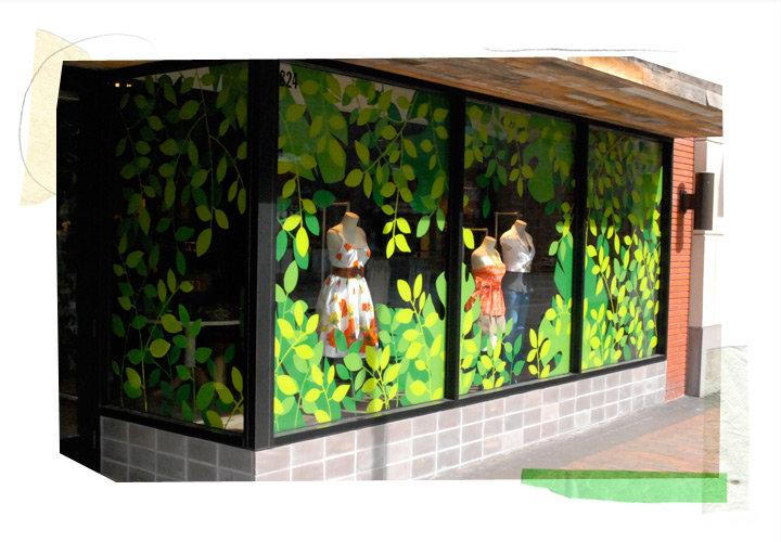 Anthropologie Plants Life Window Display 2010