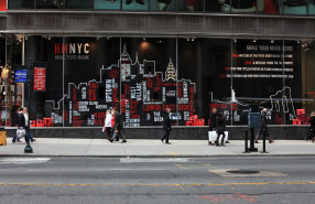 "The HMNYC ""MAKE YOUR MARK"" Interactive Window Display Project"