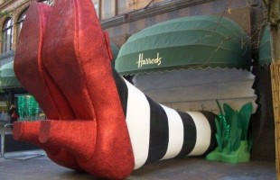 Wicked Witch of the East at Harrods Halloween Window Display 2011