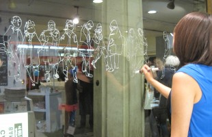 Jayoon Choi People Drawing Live Window Display 2012