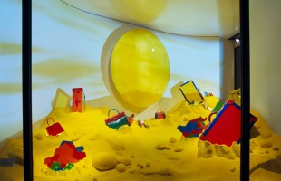 Hermès Yellow Beach Window Display Spring 2012