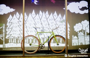 Fixie Window Installation 2010 by Chairman Ting & Tangible Interaction
