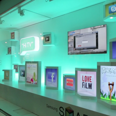 Hi TV! Samsung Interactive Window Display at John Lewis by Knit