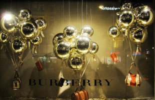 "Burberry ""Christmas Balloons"" Christmas Window Display 2012"