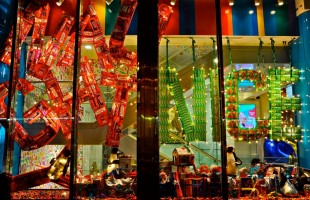 "Dylan's Candybar ""Naughty and Nice"" Holiday Window Display 2011 by Dobbins & Wright Cr..."