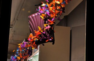 "Samsonite Soho ""Light as Air"" Butterfly Window Display 2011 by Dobbins & Wright Creati..."