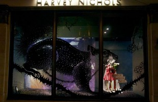 Harvey Nichols London Fashion Week Window Display 2012