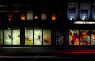 Harvey Nichols Explosive Movement Window Displays 2012
