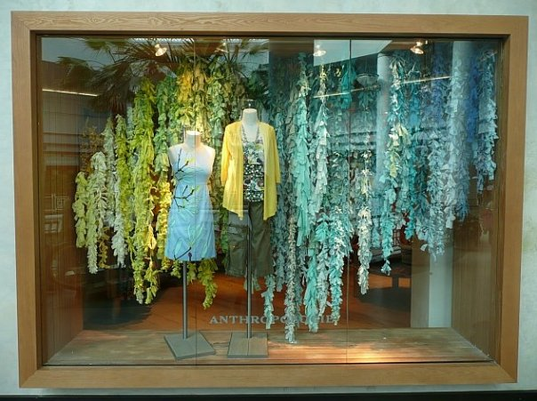 Anthropologie Yellow To Teal Wisteria Flowers Summer