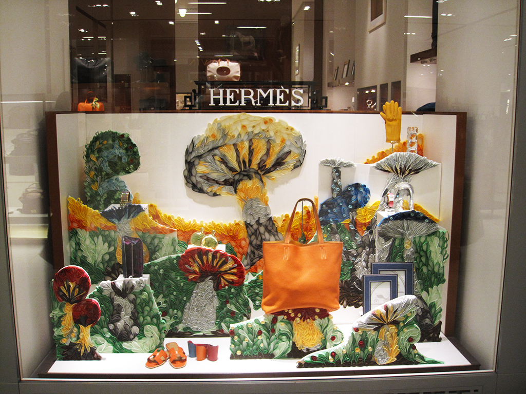 Herm 232 S Quot Quilling Mushrooms Quot Winter Window Display 2012 At