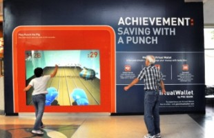 "PNC Bank ""Punch The Pig"" Interactive Window Display 2010 by Inwindow Outdoor"