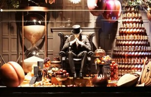 "Johnnie Walker ""Where Flavour is King"" Christmas Window Display 2012 at Selfridges by LOVE"