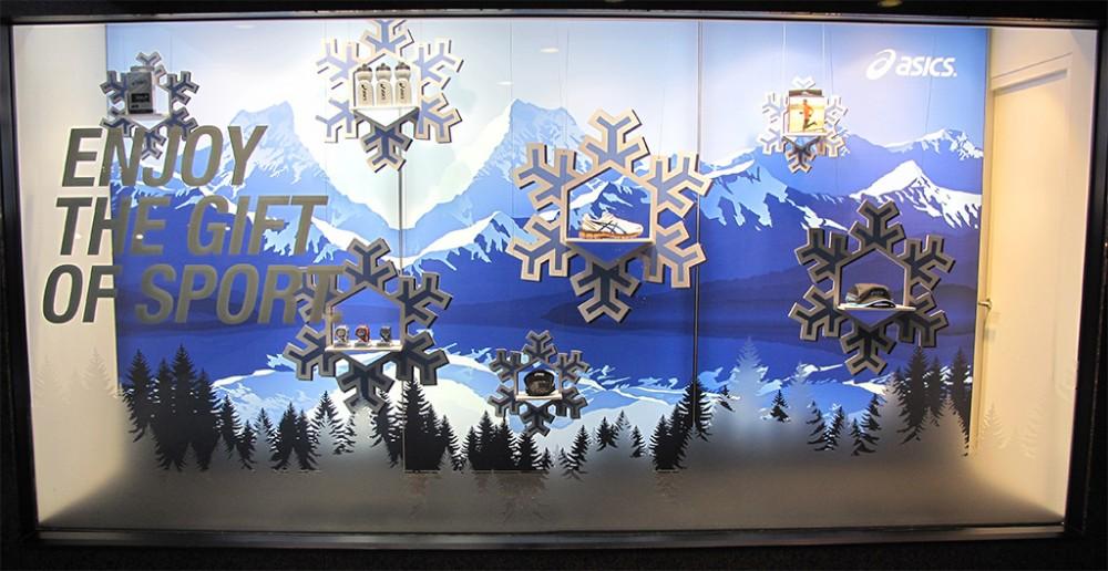 "ASICS ""Enjoy The Gift of Sports"" Winter Window Display ..."