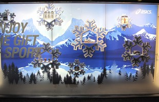 "ASICS ""Enjoy The Gift of Sports"" Winter Window Display"