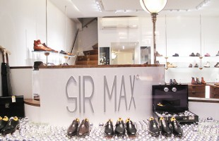 "SIR MAX ""Silver Christmas Balls"" Holiday Window Display"