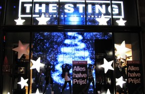 "The Sting ""Holiday Video"" Window Display"