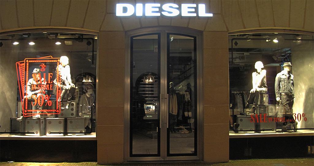 Diesel cards sale window display 2012 best window displays for What is the best window brand