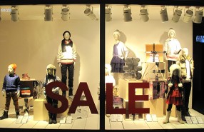 H&M Kids Holiday SALE Window Display