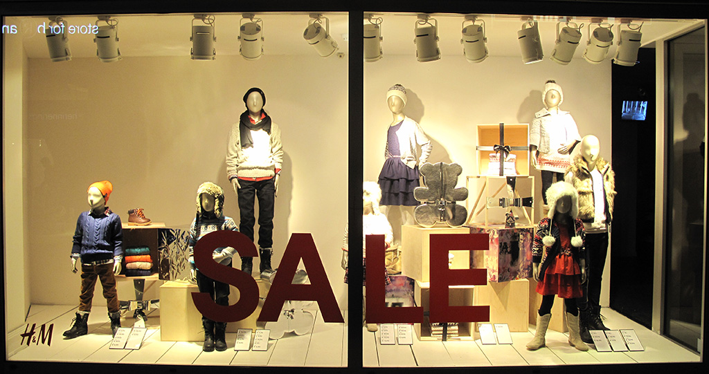 Clothing stores sales