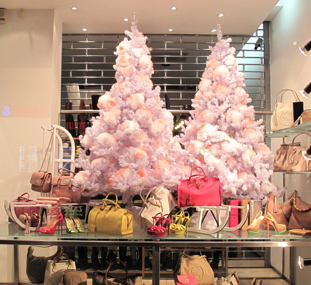 paul warmer cotton christmas tree holiday window display - Best Shop For Christmas Decorations