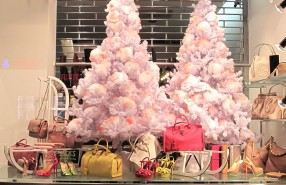 "Paul Warmer ""Cotton Christmas Tree"" Holiday Window Display"