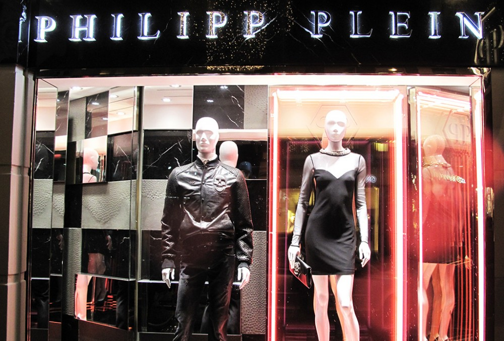 Neon Lights At Philipp Plein Spring Summer Window Display
