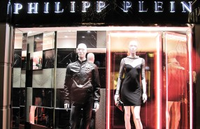 Neon Lights at PHILIPP PLEIN Spring Summer Window Display 2013