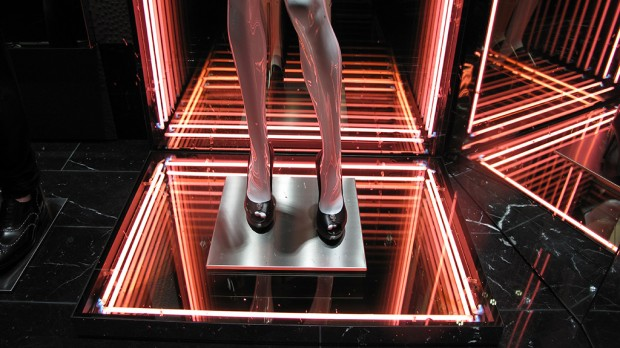 Neon Lights At Philipp Plein Spring Summer Window Display