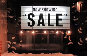 "REPLAY ""NOW SHOWING SALE"" Window Display 2012"