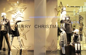 "ZARA ""Starry Merry Christmas"" Window Display"