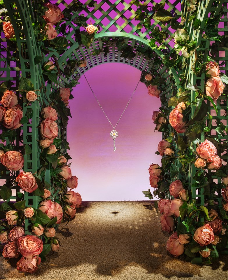 Tiffany Co Celebrate Their Enchant Collection With A Beautiful And Detailed Window Display The Theme Secret Garden They Created Arch