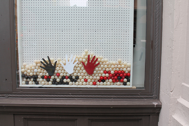 Pixel Drop Interactive Window Display
