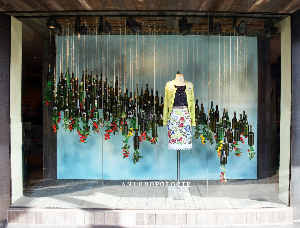 Anthropologie earth day window display 2013 best window for Anthropologie store decoration ideas