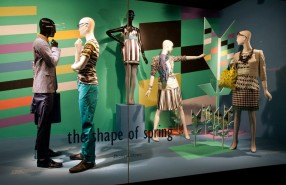 'Shapes of Spring' Window Display at Holt Renfrew