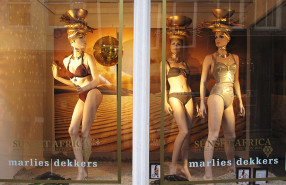 'Sunset Africa' Spring Window Display at Marlies Dekkers