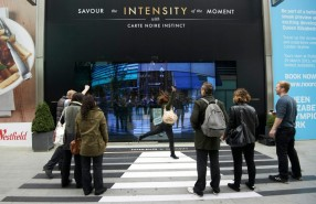 Interactive Window Display for Coffee brand 'Carte Noire Instinct'