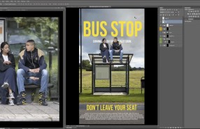 Adobe Creative Day 'Street Retouch Prank' at the Bus Stop by Erik Johansson