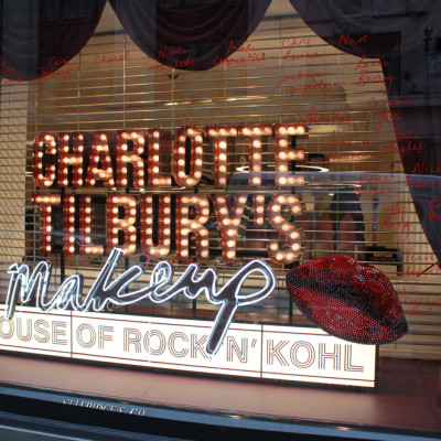 "Charlotte Tilbury's Make-up ""House of Rock 'N' Kohl"" at Selfridges by StudioXAG"