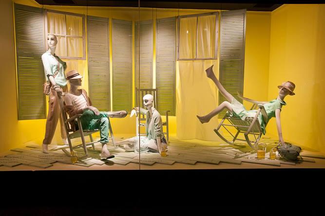 Summer Lights Spring Window Display At Holt Renfrew