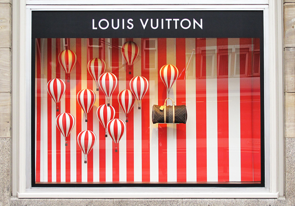 Louis Vuitton 'Hot Air Balloons' Window Display 2013 - Best Window Displays