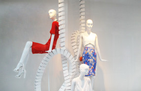 ZARA 'White Looping' Spring Window Display