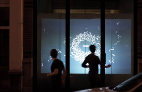 VITRINE Interactive Window Installation by Bagaar