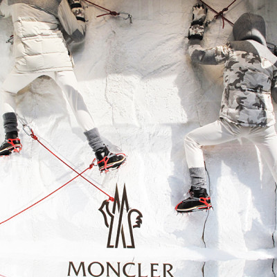 "Moncler ""Mountain Climbing"" Fall Window Display 2013"