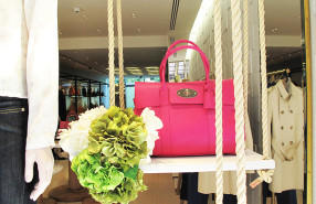 Mulberry Flower Swing Window Display