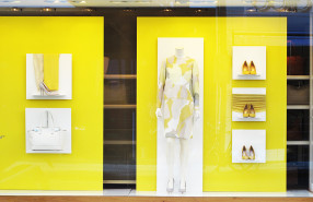 Salvatore Ferragamo 'Yellow Summer' Window Display