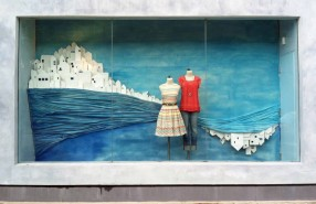 Greece Summer Window Display at Anthropologie