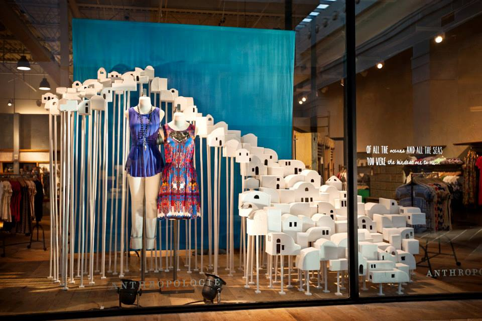 Greece summer window display at anthropologie best for Anthropologie store decoration ideas