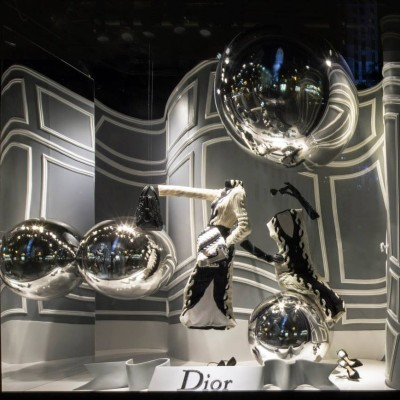 Morphed Dior Window Displays at Saks Fifth Avenue